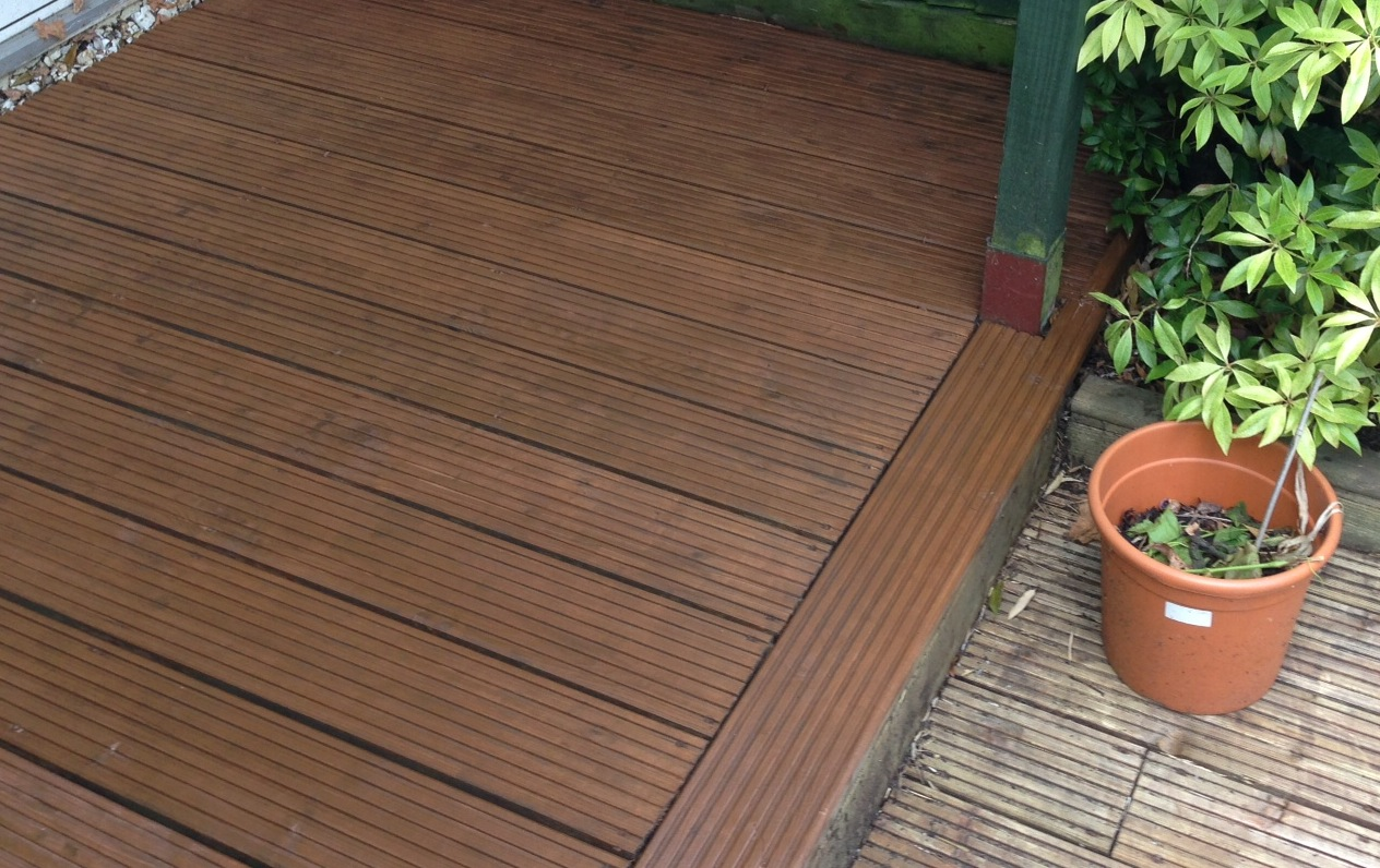 Re-stained Decking