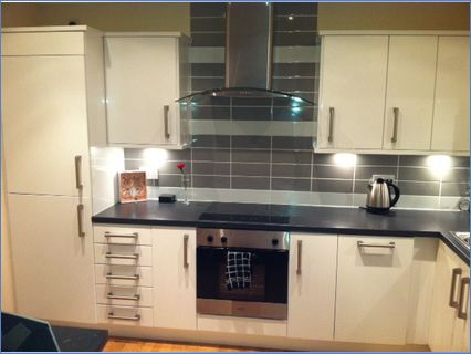 A kitchen from our High White Gloss rang