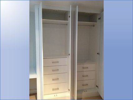 fitted double wardrobes concealed drawer