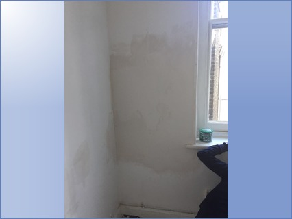 Repaired water damaged wall