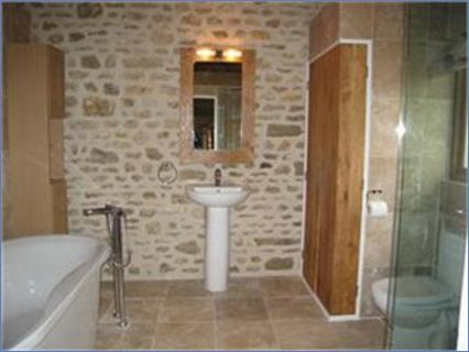 Bathroom extension in stone