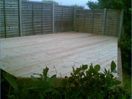 Garden Space on Completion of Decking