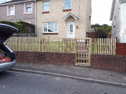 One days work on a medium fence and gate