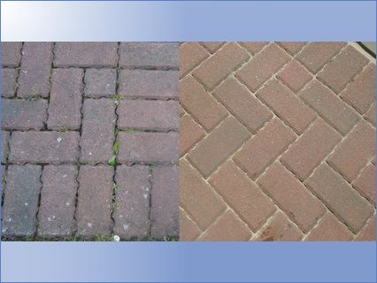 drivewabefore and after pressure clean a
