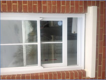 Sash window after decoration