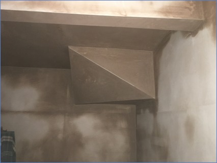 part lounge boxing and walls skimmed