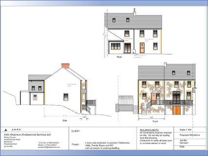 Example of  proposed elevations