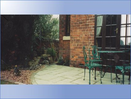 Patio and water feature Ilkeston