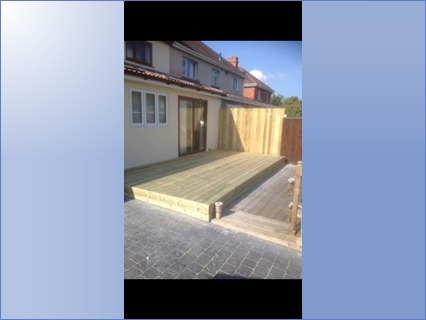 Fencing and decking for one of my custom