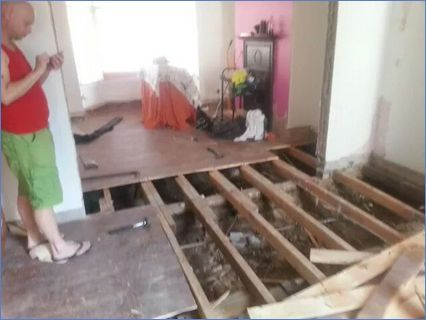 dining and live room refit