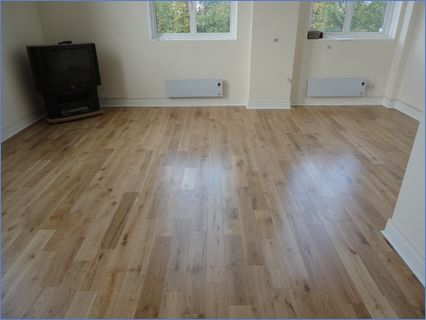 solid oak flooring floated over old parq