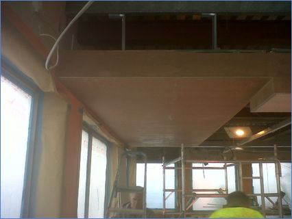 KFC ceiling after being plastered 2