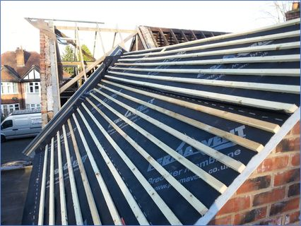 Re roof - part of extension