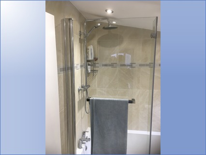 Attractive fixed and hand held shower