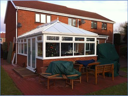 large conservatory including groundworks