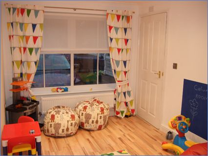 Garage Conversion into Childs Playroom