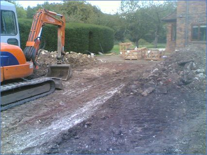 digging out for slabbing