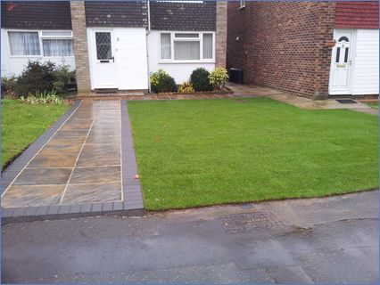 Landscaped Front Gardennew Paths  Entran