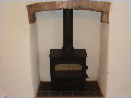 completed stove installation