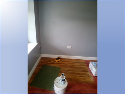 Plastering and painting large room