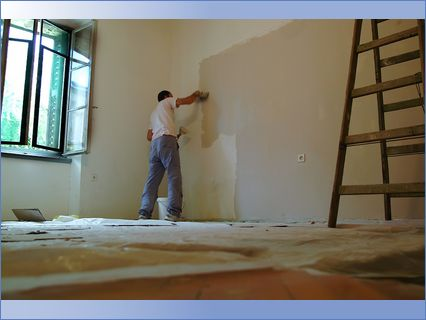 Hales Decorators - painting a room
