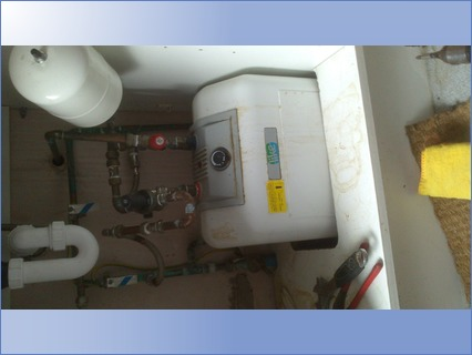 under sink water heater repair