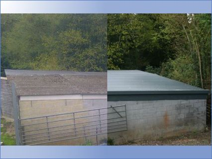 Asbestos Garage Roof Insulated and Over-