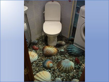 Shells in the bathroom