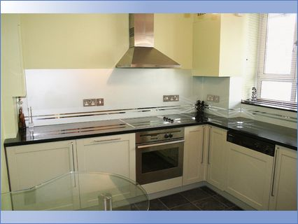 Painted kitchen units - eggshell
