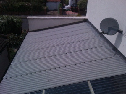 New fibre-cement garage roof
