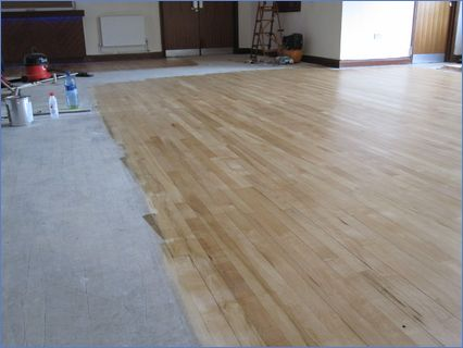 Complete job unsanding area was to be ca