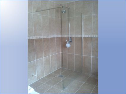 whole bathroom tiled and wetroom install