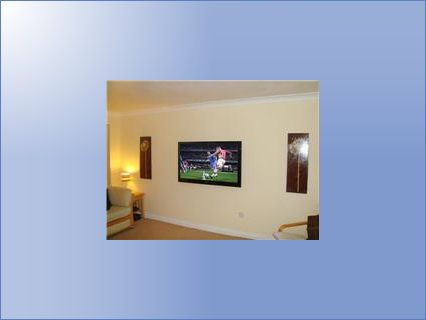 TV wall mounted with concealed cables