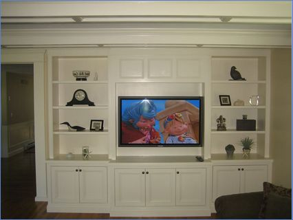 BUILT IN LIVING ROOM CABINET