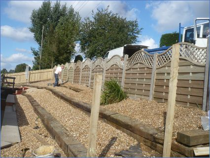 Fencing very difficult slope to deal wit
