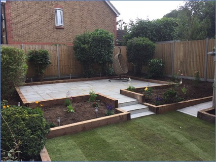 A garden we designed and built in Windso