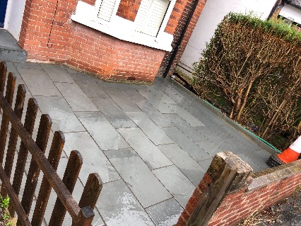 Porcelain driveway we completed in Egham