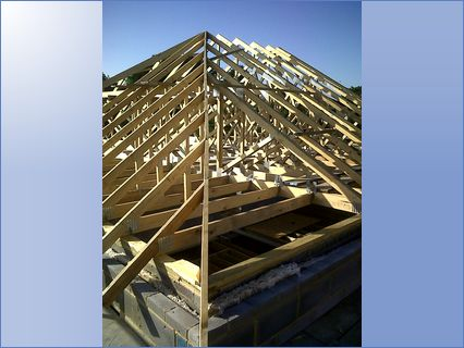 roof work premade trussesbungalow conver