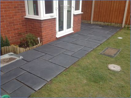 Footpath nearing completion ,