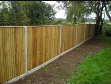 Fence put up in Bolton.