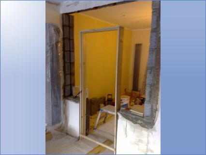 Removed door and frame