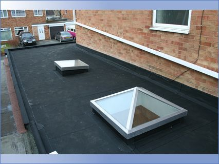 Rubber Roof with 2 Skylights