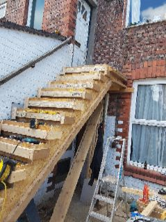 Concrete staircase shuttering