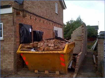 Demolition ready for two storey extensio