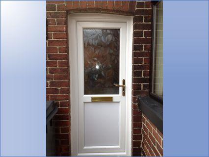 New residential door which was fitted at