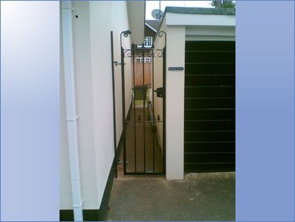 Hand made pedestrian gate with lokinox l