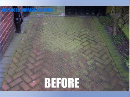 block paving before rotary jet cleaning