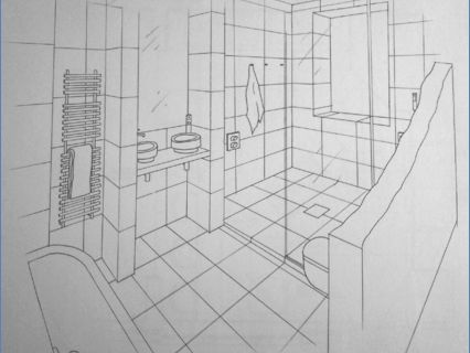 Bathroom Freehand Drawing