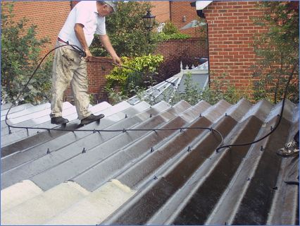 Using airless spray to coat surface