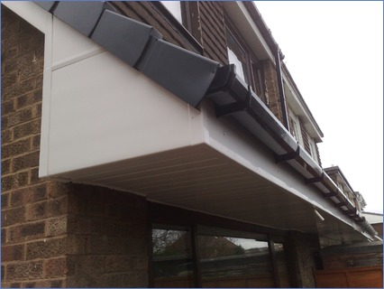 UPVC fascia, soffit, guttering with dry
